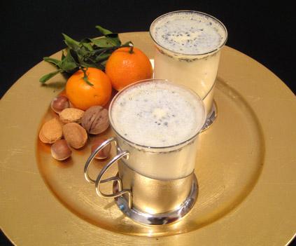 Mouhalabieh, crème de lait à la fleur d'oranger